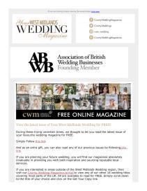 Your West Midlands Wedding magazine - April 2021 newsletter