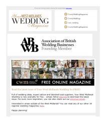 Your West Midlands Wedding magazine - July 2021 newsletter