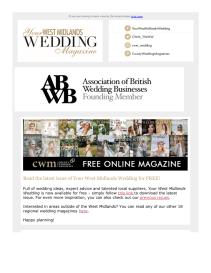 Your West Midlands Wedding magazine - September 2021 newsletter