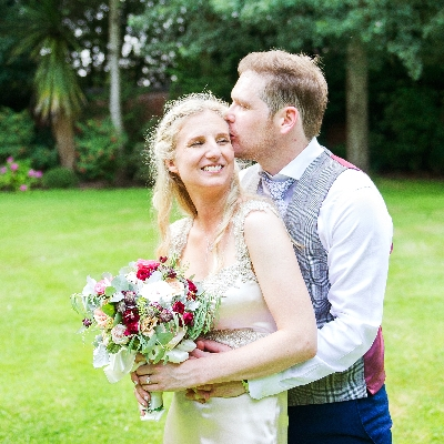 Romilly and James danced the night away on the hottest day of the year at Pendrell Hall