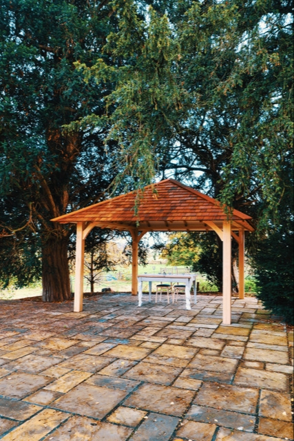 Weston Hall has a new outdoor ceremony space