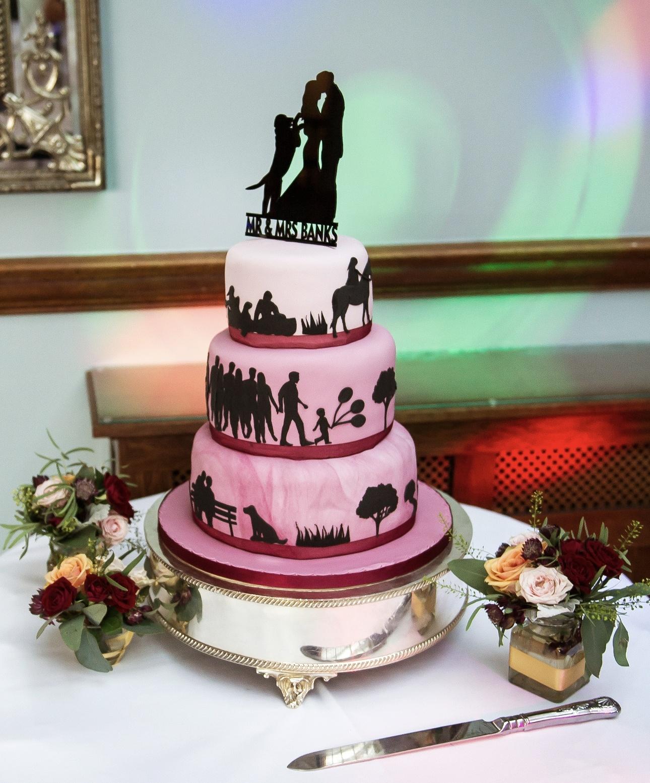 Wedding cake silhouette design