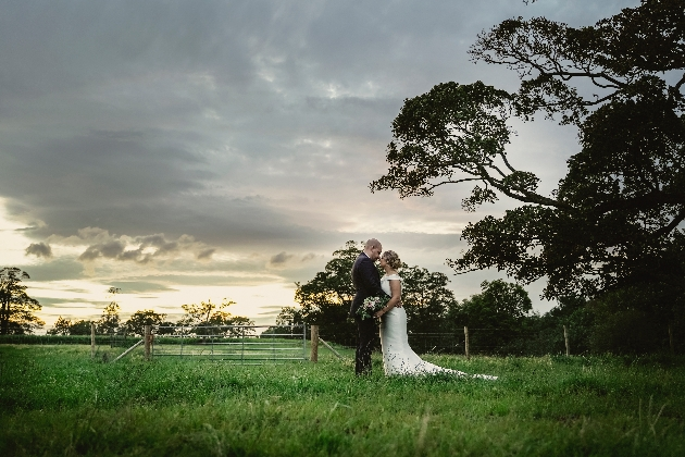 Couple in grounds sunset