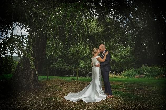 Couple under tree